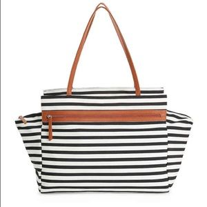 NWT—DSW Striped Overnighter Bag